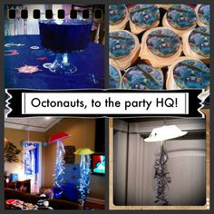 Octonauts birthday party ideas (decorations and food) from playdatecrashers.com!