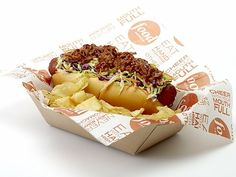 Cleveland Dog (topped with pulled pork and cole slaw. ) ~ Cleveland Indians  ~ Made List of Craziest Baseball Hot Dogs 2012 via Serious Eats