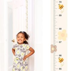 Patent Pending Mom Approved Honey Bee PeekaBoo Growth Charts Track & Measure your Kid's Height. Fits in Standard Door Jamb, Removable & Reusable, Self-Adhesive [72 x 1.25 Inches] available on Etsy, Amazon, Ebay and www.momapproved.net