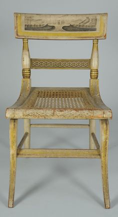 American Federal Paint-Decorated Fancy Side Chair - Baltimore Style, but Attributed to New York or New England - Circa 1820.