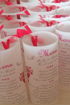personalized tealight menu for wedding or baptism this menu is printed on tracing paper 90 gr, you can choose the text ORIGINAL (see photo . Wedding Menu, Dream Wedding, Banquet, Pillar Candles, Tricks, Tea Lights, Wedding Decorations, Invitations, The Originals