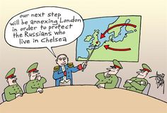 Putin and London cartoons