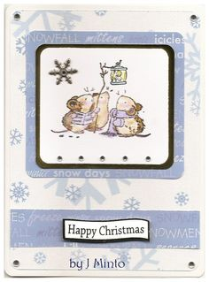 By Jane Minto; A cute stamp from Penny black. The background paper is from Stamp It.