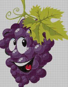 Plastic Canvas Tissue Boxes, Plastic Canvas Patterns, Applique Patterns, Crochet Patterns, Cross Stitch Fruit, Disney Cross Stitch Patterns, Stitch Cartoon, Free To Use Images, Perler Bead Art
