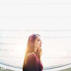 Free Premium Stock Photos - Beautiful half-asian girl listening to music.