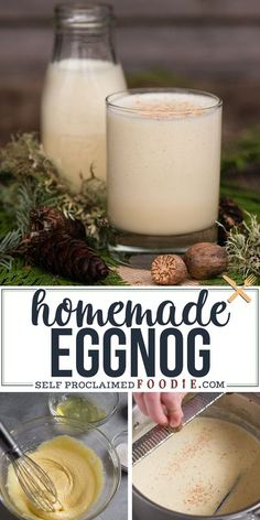 If you're looking for a delicious and traditional Homemade Eggnog recipe, this rich and creamy drink tastes the best and is easy to make! #eggnog #recipe #homemade #easy #best #christmas #drink… More Holiday Drinks, Summer Drinks, Holiday Recipes, Christmas Recipes, Homemade Christmas, Holiday Treats, Christmas Treats, Christmas Cookies, Incredible Recipes