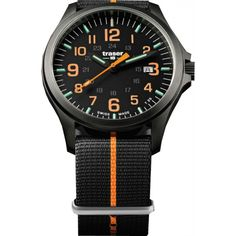 Traser® P67 Officer Pro Gun Metal NATO BLACK/ORANGE with NATO bracelet