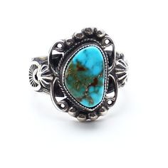 Buffalo Creek Turquoise Ring ($240) ❤ liked on Polyvore featuring jewelry, rings, turquoise, american indian rings, native american jewelry, turquoise jewelry, native american rings and band jewelry