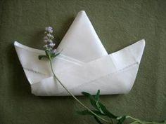 Folding a Napkin Into a Tulip - Napkin Fold Tutorial