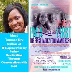 Tamara Dix will be releasing her first book @FirstLadiezForum & Expo