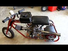 Roots Supercharged Mini Drag Bike Startup/Rev For Sale $2000 - YouTube