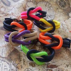Pulsera cabo náutico 5 mm nudo llano.  Nautical bracelet square knot