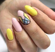 Cuffin Nails, Fun Nails, Hair And Nails, Acrylic Nails, Pastel Nails, French Tip Nail Designs, Nail Art Designs, Finger, Lavender Nails