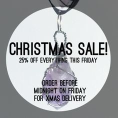 25% off all day Friday!  Place your orders by midnight Friday 18th of December and it will arrive in time for Christmas!  #necklace #jewellery #pastelblue #crystals #gems #quartz #gothic #flashsale #girl #alternative #fashion #womensfashion #wirewrapped #handmade #bestoftheday #grunge #style #lilac #life #spiritual #natural #pastel #photooftheday #silver #cute #instamood #picoftheday #instagood #instadaily #smile