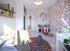 Pokój dziecka w nowym mieszkaniu na Szwederowie w Bydgoszczy. Nowa inwestycja Leszczyńskiego Park od Grupy Moderator. www.grupamoderator.pl  Inwestycja w przygotowaniu. #nowemieszkanie #pokójdziecka #dziecko #tapeta #tapetadziecko #kolorowydywan #pokójdladziecka #leszczyńskiegopark #szwederowo #bydgoszcz #miszkanieoddewelopera Park, Kids Rugs, Home Decor, Decoration Home, Kid Friendly Rugs, Room Decor, Parks, Home Interior Design, Home Decoration
