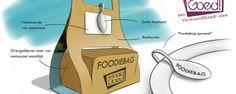 Foodie Bag - prijs op horecava 2013. Klant kan laten zien dat hij of zij eten dat over is wil meenemen.