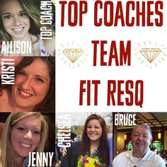 I couldn't let a new week start-up without recognizing these 5 amazing men and women on their INCREDIBLE week!  I love doing these TOP COACHES OF THE WEEK shoutouts because it just really showcases how day to day and week to week new leaders step up and SHINE! That's really the beauty of this business is ANYONE whether you've been on the team for 1 day 1 week or 1 year can make a huge impact!  So of almost 300 strong on Team Fit ResQ show some love to the TOP 5!  Proud of you!  Allison has…