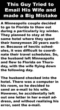 Guy Tries to Email His Wife and Makes a Big Mistake - Haaahaaha