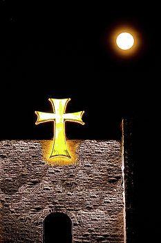 Alex Lyubar Fine Art Photography  The Full Moon and the Maltese Cross by Alex Lyubar  Alex Lyubar Fine Art Photography  #Castle#Moon#Maltese Cross#