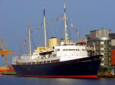 The Royal Yacht Britannia docked at Ocean Terminal in Edinburgh. A wonderful piece of British History to see!
