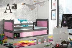 Detská posteľ Demi 3 z masívu borovice s úložným priestorom