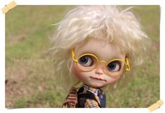 Blythe Metal White frame glasse Clear Lens by Thehandflower