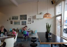 The 'nana chic' Pearl Oyster cafe - Miller Street, Thornbury Pearl Oyster, Oyster Bar, Oysters, Desk, Pearls, Chic, Street, Furniture, Home Decor