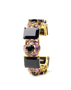 One of my favorite pieces from the Fall collection.  Bounkit Fall 2012 - Cuff with Black Onyx and Amethyst