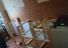 Beginning 3 Ladder, Kitchen, Homemade, Cooking, Stairs, Ladders, Home Kitchens, Kitchens, Scale