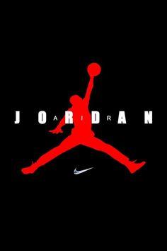 Red and Black Jordan Logo