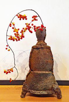 "DAN MURPHY: Three-Sided Vase Form Dimensions: 11"" tall x 6.5"" bottom width"