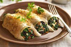 recetas navidenas canelones de espinacas