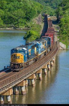 I miss train rides. I'll have to take an Amtrak trip. Train Art, By Train, Train Tracks, Train Rides, Locomotive, Orient Express Train, Csx Transportation, Railroad Bridge, Railroad Pictures