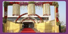 Indian Wedding Decoration Ideas | WEDDING PLANNER: Indian Wedding Hall and Mandap Entrance Decorations