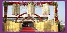 Indian Wedding Decoration Ideas | WEDDING PLANNER: Indian Wedding Hall and Mandap Entrance Decorations
