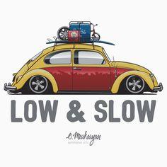 VW Beetle Low & Slow (yellow)