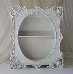 Nice and very pretty in person. Ebay Shopping, Wood Shelf, Vintage Shabby Chic, Shadow Box, French Country, Shelves, Nice, Pretty, Frame