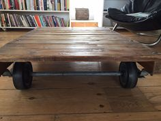 Coffee table made of reclaimed planks of wood. Low sitting coffee table with loads of character. Pick up only from London, Kensal Rise. | eBay!