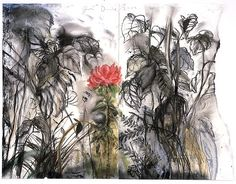 Jim Dine - A Peony from Auckland 2003 Jim Dine, Gcse Art Sketchbook, Pop Art Movement, Woodland Art, Etching Prints, Plant Drawing, A Level Art, Famous Art, Black And White Drawing