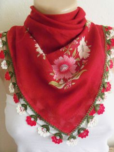 Red DaisyGorgeous Turkish Traditional by colourfulrose on Etsy, $22.90