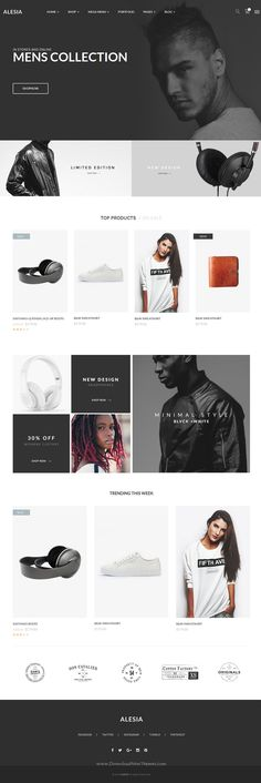 ALESIA is an eCommerce Bootstrap HTML template with clean, modern and professional design. Includes 10 home pages, 7 shop variations, 2 product page layouts, 6 headers, 4 blog styles and many more options which gives you plenty of choices.