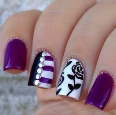 Gemstone nail designs for short nails pictures