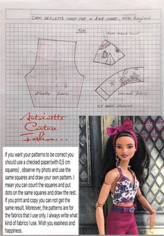 Fashion Dolls Couture - Unlimited: Loading energy for the maths class - Made to Move Barbie - Source by clothes fashion Sewing Barbie Clothes, Barbie Sewing Patterns, Doll Dress Patterns, Clothing Patterns, Barbie Fashionista, Made To Move Barbie, Barbie And Ken, Barbie Style, Barbie Basics