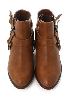 Cutout Buckled Boots