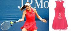 Lady in red, Agnieszka Radwanska in her Fall Victoria Dress at Tennis Fashion, Us Open, Tennis Clothes, Victoria Dress, Lady In Red, New York, Stylish, Fall, Blog