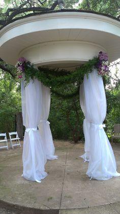 Design for an outside gazebo wedding