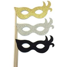 Masquerade Photo Booth Props New Year Eve Props 3 Piece