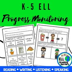 This mega bundle provides you with progress monitoring assessments for ESL ELL EFL EAL ESOL students in grades K-5. Please carefully read which assessments are included as the bundle is GROWING and not yet fully complete. I will update this product as the assessments are complete and send you a note regarding the update when posted.