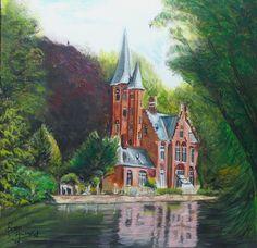 Het Minnewaterpark in Brugge.