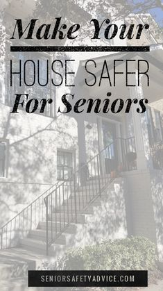 Making your house safer for seniors take a little planning, time and information. Let us help you. Home Safety Tips, Elderly Person, Nursery Pictures, Parents Room, Elderly Home, Aging Parents, Aging In Place, Home Safes, Senior Living